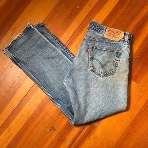 Levi's 501 Light Wash Destroyed Jeans Size 36x34